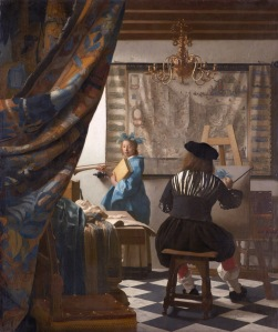 L'artista i la model xerrant. (Johannes Vermeer)