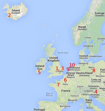 Bé, vull que tingueu enveja del meu viatge, no de les meves habilitats per modificar mapes (Google Maps)