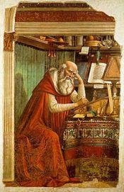 'Sant Jeroni al seu estudi' de Domenico Ghirlandaio [font]