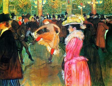 'Bal au Moulin Rouge' (1890) de Henri de Toulouse-Lautrec