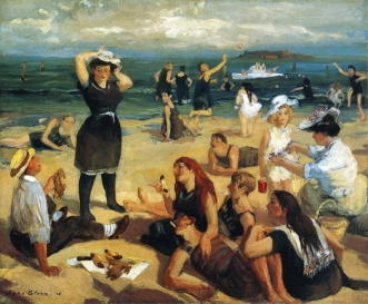 South Beach Bathers [quadre: John French Sloan]