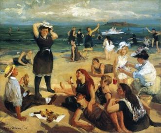 South Beach Bathers [quadre: John French Sloan]