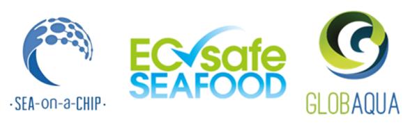 Logotips de tres projectes que estudien el medi aquàtic