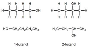 Els dos isòmers del butanol